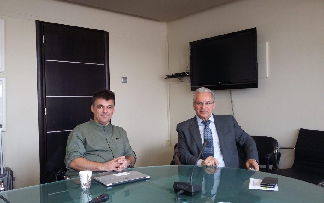 Συνάντηση διευθύνοντος συμβούλου ΟΣΕΘ Α.Ε. Ιωάννη Τσιωνά με στελέχη της ΔΕΠΑ και της ΟΣΥ