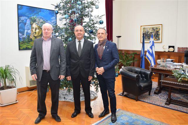 Συνάντηση προέδρου και διευθύνοντος συμβούλου του ΟΣΕΘ με τον ΥΜΑΘ και την επικεφαλής του γραφείου πρωθυπουργού στη Θεσσαλονίκη