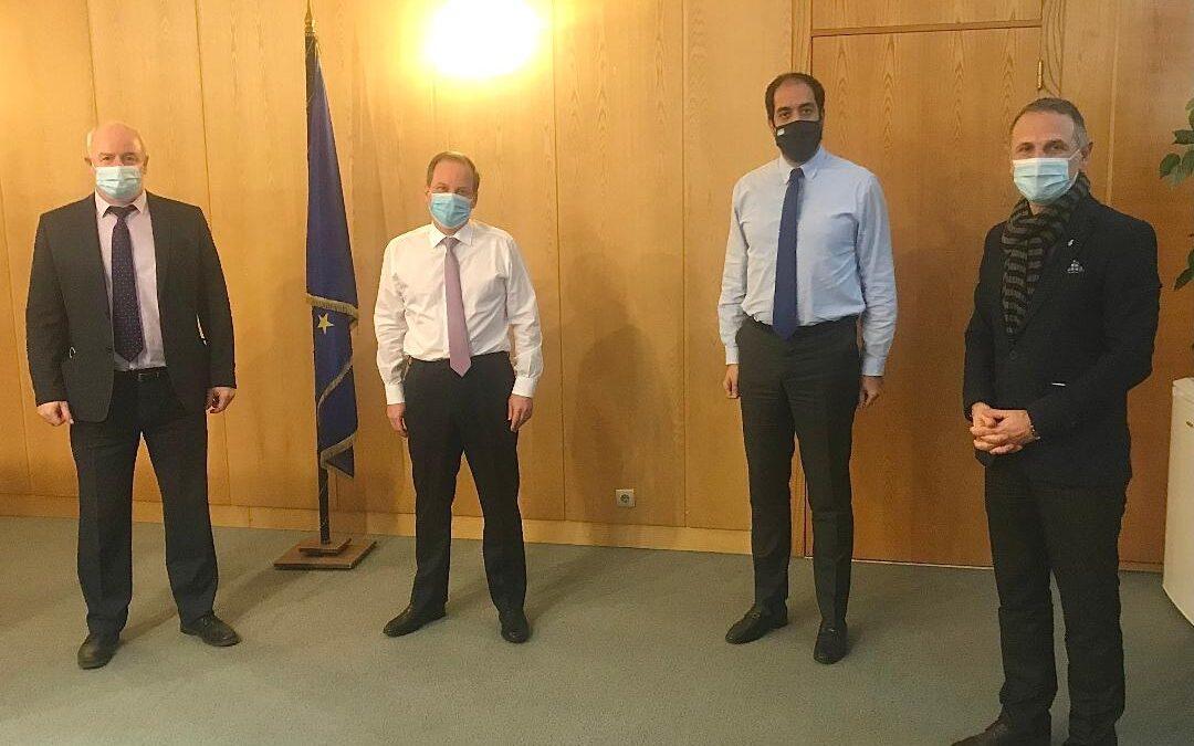 Σύσκεψη με τον Υπουργό Κ. Καραμανλή για το συγκοινωνιακό έργο της Θεσσαλονίκης